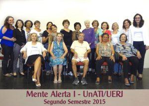 Mente Alerta I – UnATI-UERJ – segundo semestre 2015