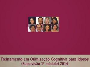 Treinamento em Otimização Cognitiva para Idosos – supervisão – 2014